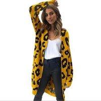 fall oversized cashmere leopard christmas cardigan knitted long sweater kimono women cardigan for women 2019