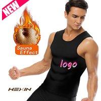 Men Waist Trainer Vest for Weightloss Hot Neoprene Corset Body Shaper Zipper Workout Sauna Tank Top Shirt