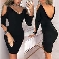 2019 Hot Sale Sexy Bodycon Women Casual Dresses Butterfly Evening Dress Wholesale