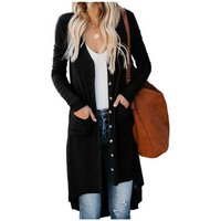 Wholesale FashionKnitted Button Down Pocketed High Low Women Cardigan