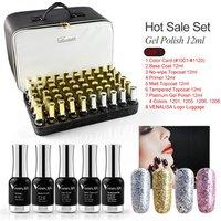 Venalisa 12ml high quality nail gel full set 2019 amazon hot sale nails supplies 120pcs with bag color chart full salon nail gel