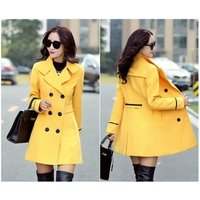 2019 New Autumn Winter Blends Plus Size Coat Turn-Down Collar Elegant Double Breasted Women Long Coat Female Casual Coat Tops