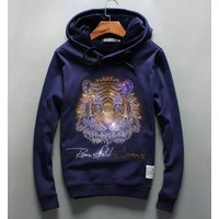 men winter hooded Pullover Sweatshirt with thick long sleeved cashmere Stone Tiger  cardigan fashion hood  drop shipping
