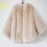 Women Artificial Fur Outwear Faux Fox Fur jacket Fake Fur coat