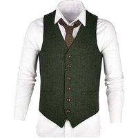 new design herringbone wool mens waistcoat formal green waistcoat vest for men