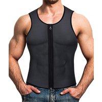 Men Waist Trainer Vest for Weightloss Hot Neoprene Corset Body Shaper Zipper Sauna Tank Top