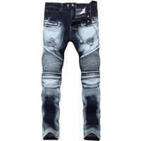 slim fit pants classic jeans male denim jeans Designer Trousers Casual skinny Straight Elasticity pants  jeans for mens
