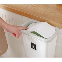 factory outlet Creative Multi-function Kitchen Garbage Bin Plastic Cabinet Door Hanging Trash Can