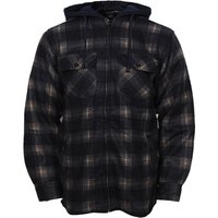 Nice stock men clothing plaid polyester winter warm polar fleece jacket with hood