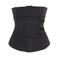Abdominal High Compression Zipper Neoprene Waist Trainer Cincher Corset Body Shaper