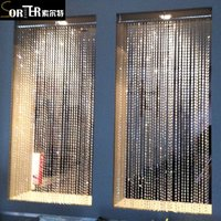 Window Crystal beaded curtains for door decoration living room divider