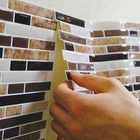 'Easy Diy Kitchen Vinyl Wallpaper Stick Wall Brick