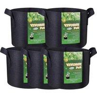 5 Pack 3 gallon 5 gallon 7 Gallon Planter Grow Bags Aeration Fabric Pots Garden Potato felt grow bags