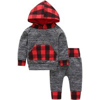 Wholesale Autumn Baby clothing sets boys hoodies outfits