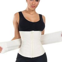 HeXin Hot Selling Comfortable Queen Size 100% Latex Fitness Waist Belt Corset 3 Tier Waist Cincher Trainer With Zipper