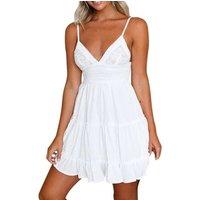 2019 Women Casual Beach Short Dres White Mini Lace Female Summer  Women Dress