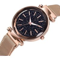 Luxury Starry Sky Women Gold Watches Magnet Buckle Stylish Female Casual Quartz Wristwatch Unique Girls Gift Relogio