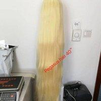 100% human Blonde silky straight brazilian 40