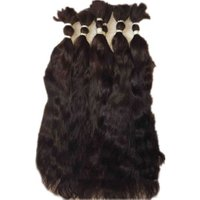 Natural Raw Virgin Indian Human Hair Bulk From China Wholesale Indian Hair For women hair extension woman Extensions For Lady
