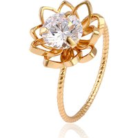11795 Xuping 18K Gold Gemstone Ring, Engagement Jewelry Diamond Ring