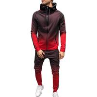 Tracksuit Men Set Sport 2 Pieces Sweatsuit Mens Clothes Printed Hooded Hoodies Jacket and Pants Track Suit Men