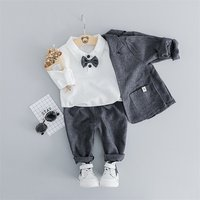 3 pieces of Formal suit and matching clothing set for children and baby clothing set