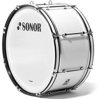"Sonor B Line 26"" x 12"" Marching Bass Drum White Große Trommel"