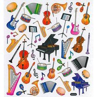 AIM Gifts Musical Instruments Stickers Aufkleber