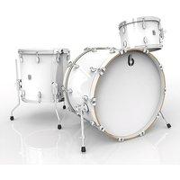 """British Drum Co. Legend 22"""" Piccadilly White Shellset Schlagzeug"""