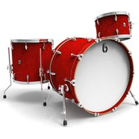 "British Drum Co. Legend Club 24"" Buckingham Scarlett Shell Set"