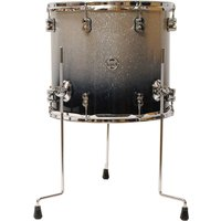 "pdp Concept Maple 16"" x 14"" Silver to Black Sparkle Fade Floor Tom"