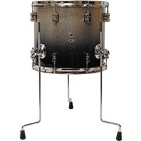 "pdp Concept Maple 14"" x 12"" Silver to Black Sparkle Fade Floor Tom"