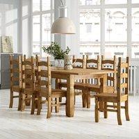 Essgruppe Dodge mit ausziehbarem Tisch und 8 Stühlen