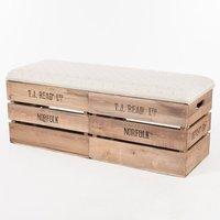 Bettencourt Elevated Wood Storage Bench