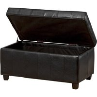 Wines Grafton Faux Leather Storage Bench