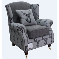 Uffington Antler Stag Wingback Chair