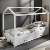 Erik European Single Four Poster Bed with Drawer