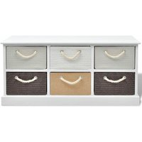 Craycroft 6 Drawer Storage Bench