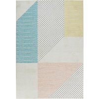 Teppich Madison in Creme/Rosa/Blau