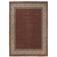 Langham Handwoven Wool Dark Brown Rug