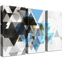Triforce Light 3 Piece Wall Art Set on Canvas