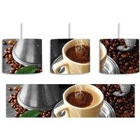 Steaming Coffee 1-Light Drum Pendant