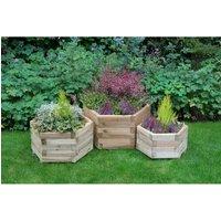 Oscar 3 Piece Wood Planter Box Set