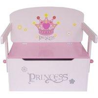 Princess Convertible Toy Storage Bench