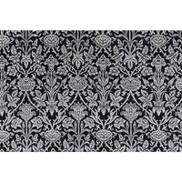 Pentillie Hand Knotted Black/White Rug