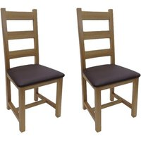 Marley Solid Oak Upholstered Dining Chair (Set of 2)