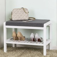 Bamboo 3 Pair Shoe Storage Bench
