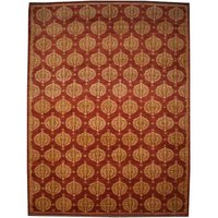 Gabbeh Afghan Hand-Woven Wool Red/Yellow Area Rug