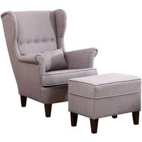 Duong Wingback Chair and Footstool