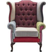 Jaeden Patchwork Wingback chair